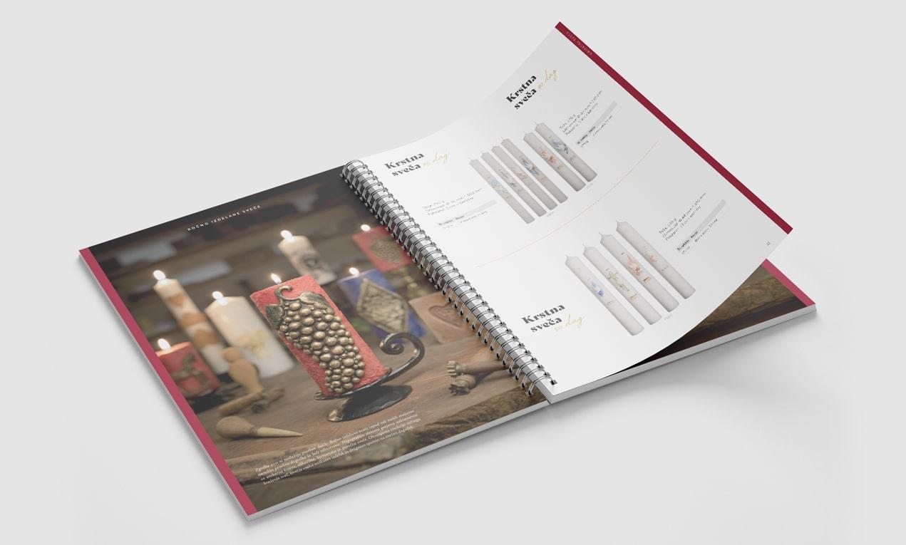 Katalog sveč, ki smo ga oblikovali za podjetje Svečarstvo Stele