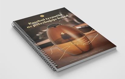 Naslovnica kataloga sveč, ki smo ga oblikovali za podjetje Svečarstvo Stele